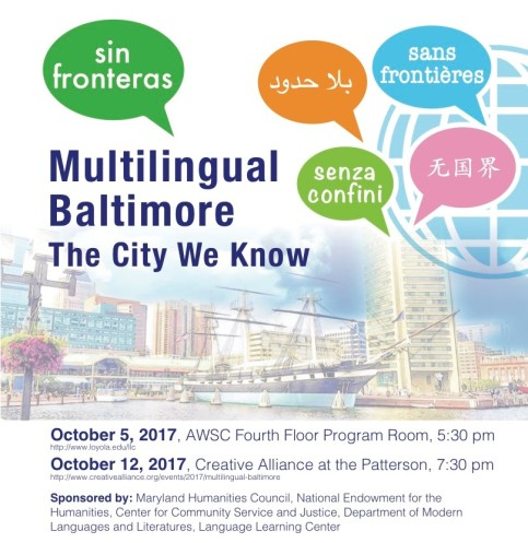 Multilingual Baltimore flyer